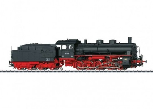 Class 57.5 Steam Freight Locomotive with a Tender.