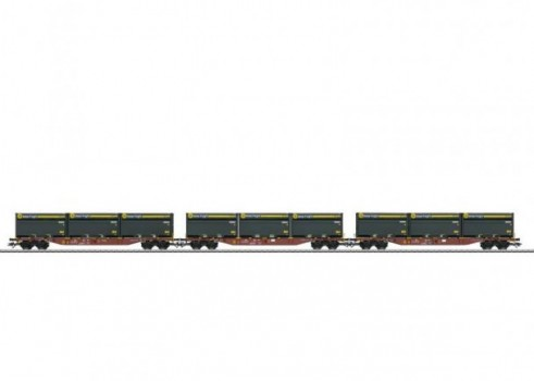 Three Type Sngss Container Transport Cars with WoodTainer XXL Containers