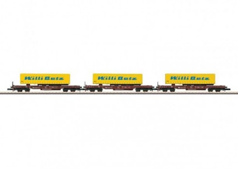 Deep Well Flat Car Set