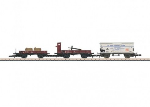 Freight Car Set. Consisting of 3 Different Cars