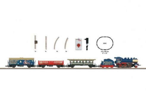 Christmas Starter Set. 230 Volts. Freight Train with an Oval of Track and the Right Power Pack