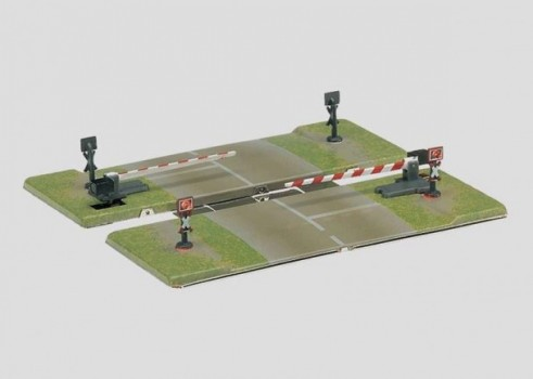 Railroad Crossing Gates with Half Gates