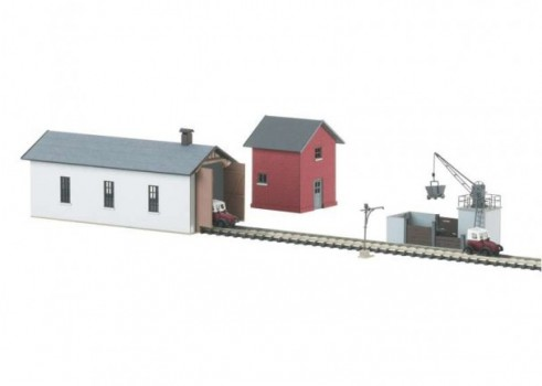 "Architectural Building Kit Set for a ""Small Railroad Maintenance Facility"""