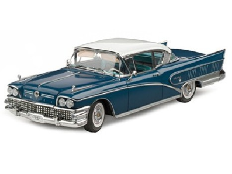 1958 BUICK LIMITED RIVERA COUPE - Colonial blue body-Glacier White Roof
